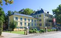 Administration building resort portschach austri view of am worthersee austria Stock Images