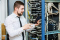 IT administrator at the server Royalty Free Stock Photo