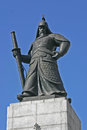 Admiral yi sun shin statue of in gwanghwamun seoul south korea Royalty Free Stock Images