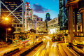 Admiralty night view of and central hong kong Stock Photos