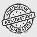 ADMIRATION rubber stamp isolated on white.