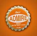 Admire Themed Bottlecap Royalty Free Stock Photos