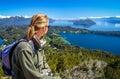 Admiring Argentinian Lake District Royalty Free Stock Photo