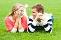 Admiring love couple lost in each other Royalty Free Stock Photo
