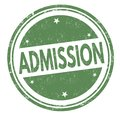 Admission sign or stamp Royalty Free Stock Photo