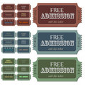 Admission Tickets Royalty Free Stock Images