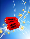 Admission Tickets on Abstract Modern Light Background Royalty Free Stock Photo