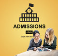 Admissions Education Knowledge University Academic Concept Royalty Free Stock Photo