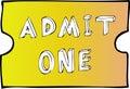 Admit One Blank Ticket Royalty Free Stock Photo