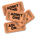 Admit one movie tickets Royalty Free Stock Photos
