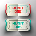 Admit One Paper Cut Vector Tickets Royalty Free Stock Photo