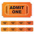 Admit one ticket Royalty Free Stock Photos