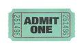 Admit One Ticket Royalty Free Stock Photo