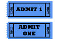 Admit one tickets Royalty Free Stock Photos