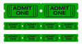 Admit one tickets Stock Image