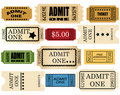 Admit ticket one set Stock Image