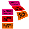 Admit tickets Royalty Free Stock Photo