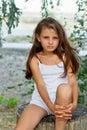 Ładna mała dziewczynka Fotografia Royalty Free