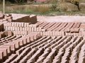 Adobe Bricks - Sustainable Building Materials 2 Stock Image