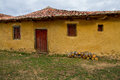 Adobe mud house old simple humble and nice comarca de rueda province of leon spain Stock Images