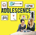 Adolescence young adult youth culture lifestyle concept Stock Photo