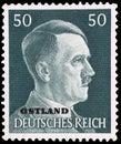 Adolf Hitler on German Stamp Royalty Free Stock Photo