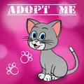 Adopt cat indicates adoption felines and pet meaning kitty pedigree Stock Photo