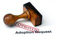 Adoption request approved close uo of Stock Photos