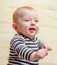 Adorable Baby Boy Looking Away from Camera Royalty Free Stock Photo