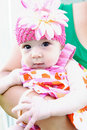Adorable Baby Making Funny Face Royalty Free Stock Photo