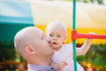 Adorable father and daughter have fun together Royalty Free Stock Photo