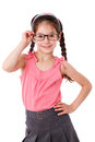 Adorable girl in glasses Royalty Free Stock Photography