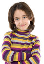 Adorable girl with her arms crossed Stock Photo