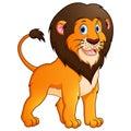 Adorable lion cartoon