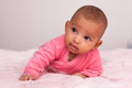 Adorable little african american baby girl black people Royalty Free Stock Photos