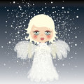 Adorable little angel on the sky Royalty Free Stock Images