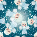 Adorable little angels on the sky Royalty Free Stock Photo