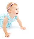 Adorable little baby girl laughing Royalty Free Stock Photography