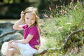 Adorable little girl portrait outdoors Stock Image