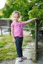 Adorable little girl portrait outdoors at summer Royalty Free Stock Photography