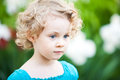 Adorable little girl taken closeup outdoors in summer Royalty Free Stock Images