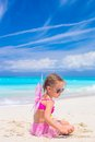 Adorable little girl with wings like butterfly on Royalty Free Stock Photo