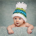 Adorable portrait of two months old baby Stock Photos
