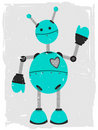 Adorable Robot Waving Royalty Free Stock Photo