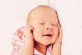 Adorable sleeping newborn baby girl Royalty Free Stock Photography