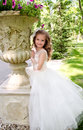 Adorable smiling little girl in princess dress