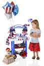 Adorable 4th of July Vendor Royalty Free Stock Photo