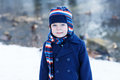 Adorable toddler boy on beautiful winter day Royalty Free Stock Photo