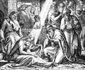 Adoration of the magi from a victorian book dated that is no longer in copyright Stock Photo
