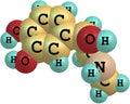 Adrenaline molecule on white background model Stock Photo